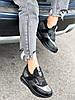 Кроссовки женские Saimo черные + серебро 4285, фото 5