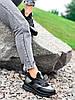 Кроссовки женские Saimo черные + серебро 4285, фото 6