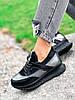 Кроссовки женские Saimo черные + серебро 4285, фото 8