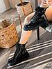Ботинки женские Louis черные 4305 лак ДЕМИ, фото 8