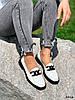 Туфли лоферы Mina белые + черный 4316, фото 7