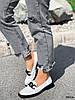 Туфли лоферы Mina белые + черный 4316, фото 9