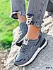 Кросівки жіночі Tavo сірі + темно синій 4318, фото 4