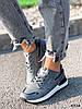 Кросівки жіночі Tavo сірі + темно синій 4318, фото 5