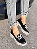 Туфли лоферы Simon черные + капучино 4321, фото 2