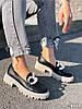 Туфли лоферы Simon черные + капучино 4321, фото 4