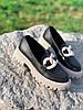 Туфли лоферы Simon черные + капучино 4321, фото 9