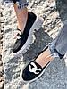 Туфли лоферы Simon черные + капучино 4321, фото 10