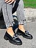 Туфлі-броги жіночі Gesmí чорні 4363 шкіра, фото 2