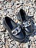 Туфлі-броги жіночі Gesmí чорні 4363 шкіра, фото 3