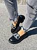 Туфлі-броги жіночі Gesmí чорні 4363 шкіра, фото 4