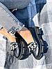 Туфлі-броги жіночі Gesmí чорні 4363 шкіра, фото 5
