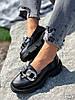 Туфлі-броги жіночі Gesmí чорні 4363 шкіра, фото 6