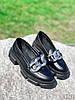 Туфлі-броги жіночі Gesmí чорні 4363 шкіра, фото 8
