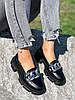 Туфлі-броги жіночі Gesmí чорні 4363 шкіра, фото 9