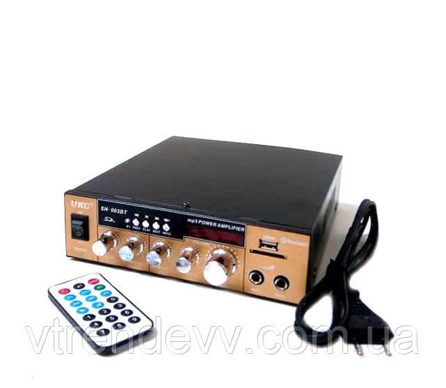 Підсилювач звуку з радіо і Bluetooth UKC 003