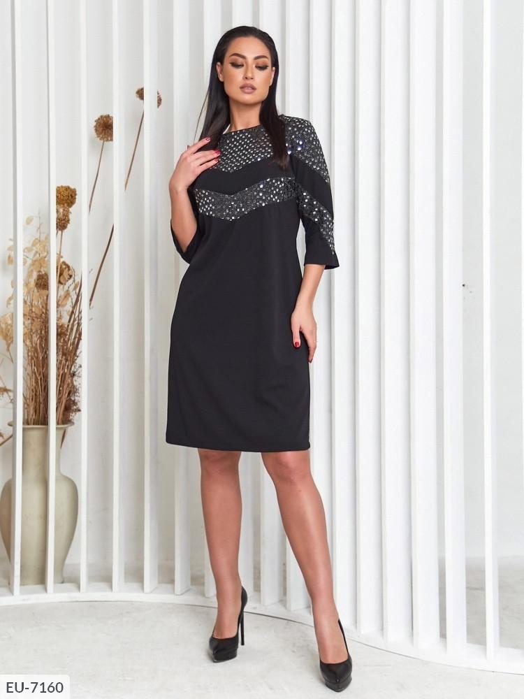 Платье с пайетками (Батал)