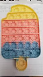 """Сенсорна іграшка Поп іт, pop it """"морозиво"""" з рефлеными літерами та цифрами, поп іт антистрес, поп-іт, (pop It"""