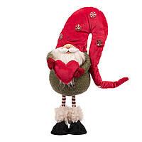 Новогодняя мягкая игрушка Novogod'ko «Гном с сердцем», 42 см