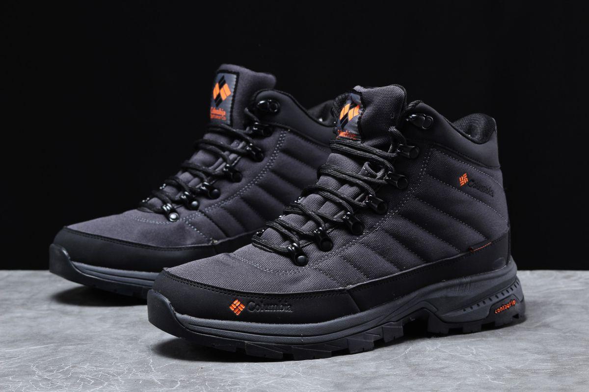 Зимові чоловічі кросівки 31771, Columbia Contagrip, темно-сірі [ немає ] р.(41-26,5 см)