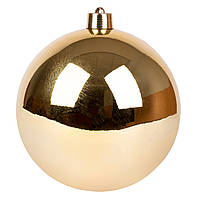 Новогодний шар Novogod'ko, пластик, 15 cм, золото, глянец