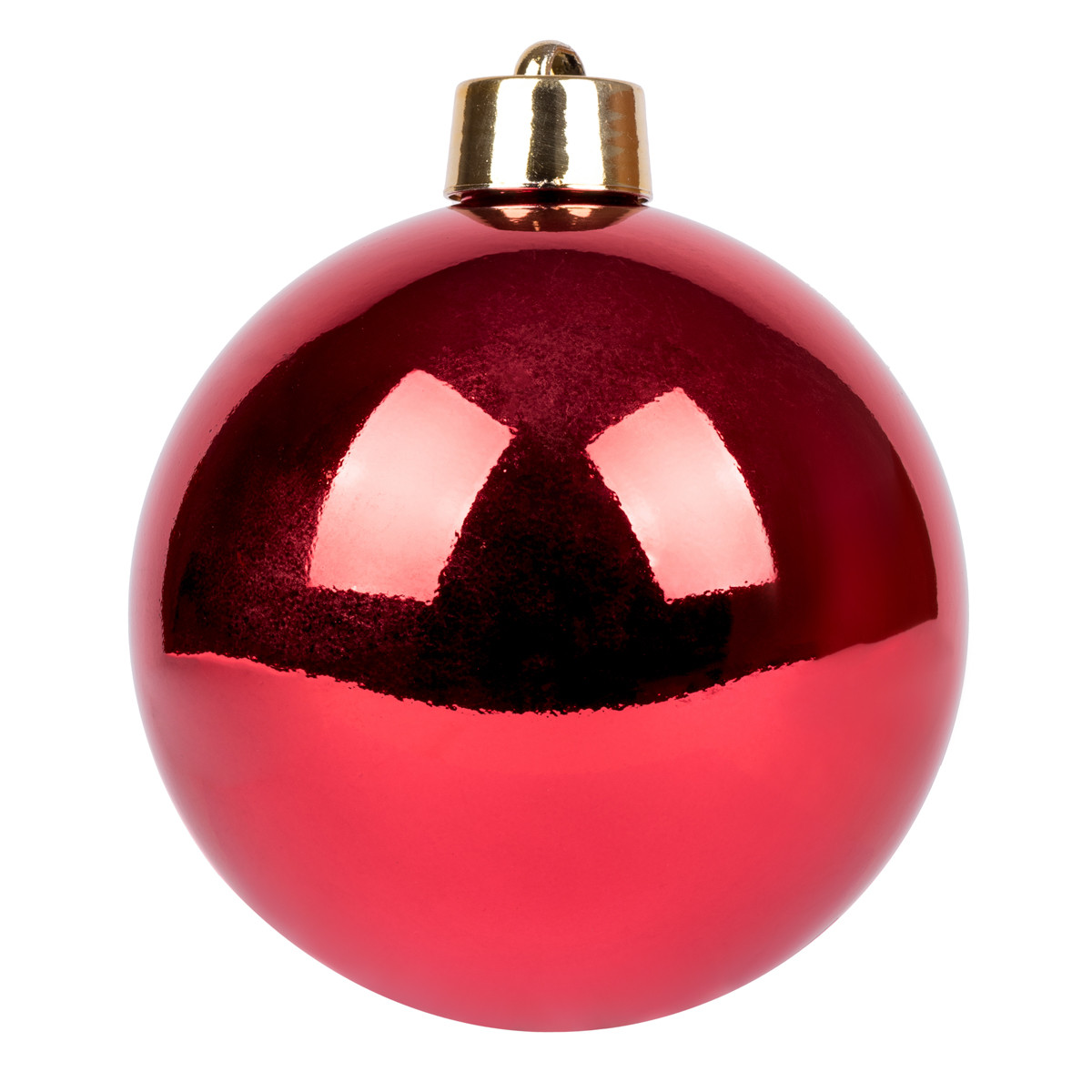 Новогодний шар Novogod'ko, пластик, 30 cм, красный, глянец