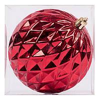 Новогодний шар Novogod'ko формовой, пластик, 10 cм, красный, глянец