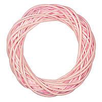 Вінок Yes! Fun ротанговий світло-рожевий, d-25 см