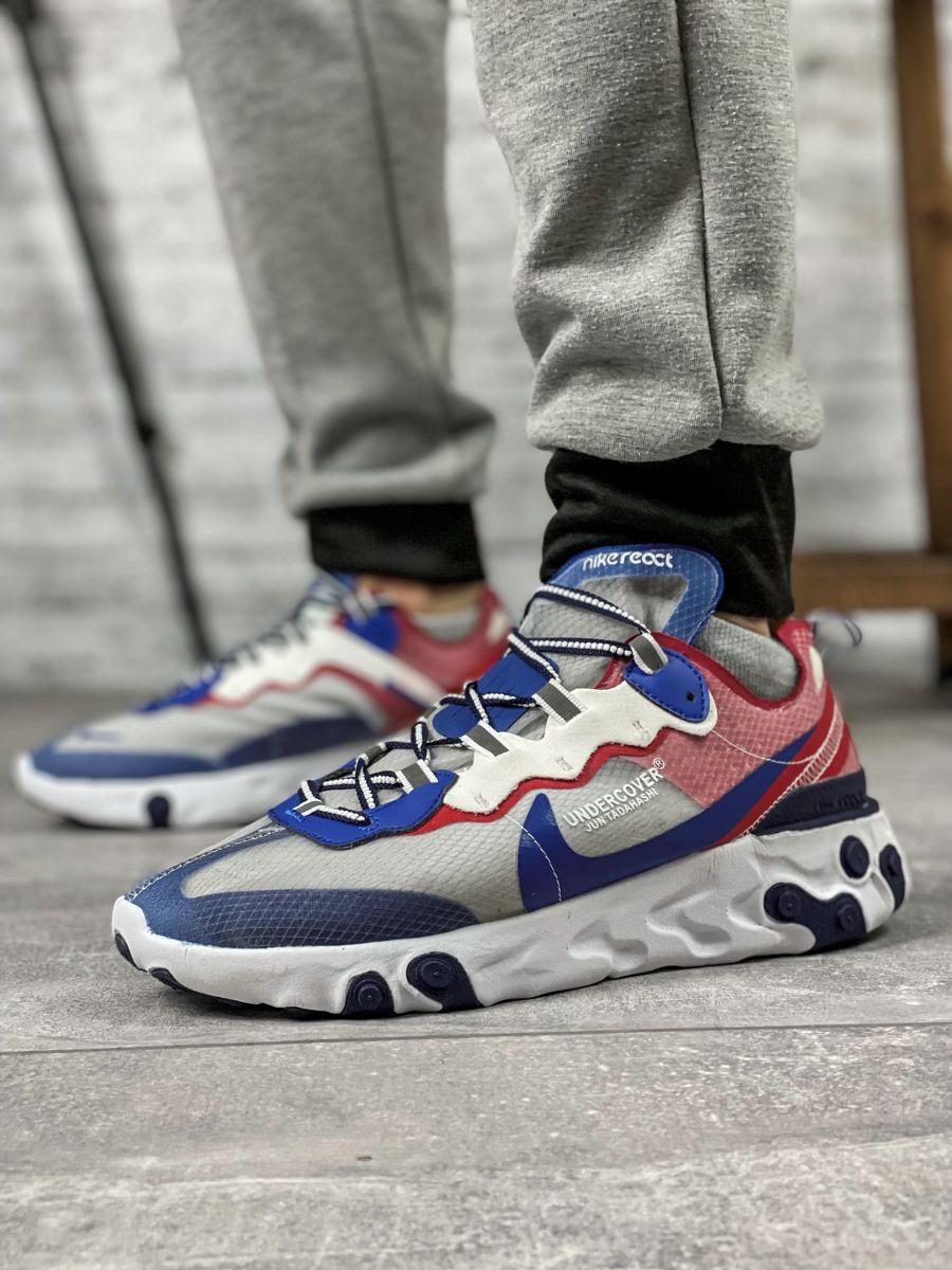 Кросівки чоловічі 15393, Nike React, сині [ 44 ] р.(44-28,5 см)