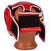 Боксерский шлем тренировочный PowerPlay 3100 PU Красный M, фото 3
