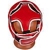 Боксерский шлем тренировочный PowerPlay 3100 PU Красный M, фото 4