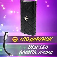 Элегантный кошелек Клач женский CROWN фиолетовый искусственная кожа Портмоне женские+ USB лампа