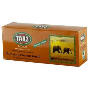 Чай TAAZ Пакетування чорний 25 шт ІНД