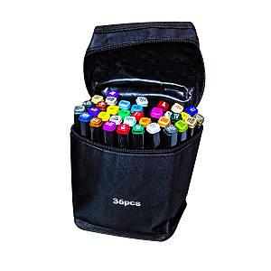 Маркеры TOUCH Sketch Marker Black 36 шт разноцветные + сумка