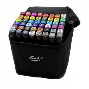 Маркеры TOUCH Sketch Marker Black 48 шт разноцветные + сумка