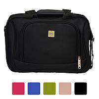 Дорожня сумка Bonro Best з кодовим замком текстильна тканинна Чорний