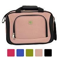 Дорожня сумка Bonro Best з кодовим замком текстильна тканинна Чорний Рожевий