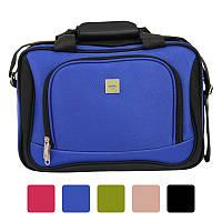 Дорожня сумка Bonro Best з кодовим замком текстильна тканинна Чорний Синій