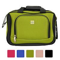 Дорожня сумка Bonro Best з кодовим замком текстильна тканинна Чорний Зелений
