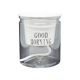 Прозоре кашпо Good morning 10*11.5 см прозора декоративна підставка скло