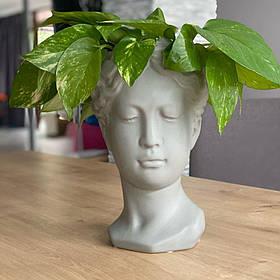 Ваза Біла Греція 21*13 см біла декоративна підставка кераміка