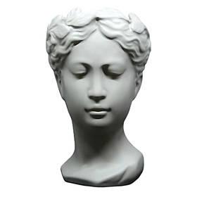 Ваза керамическая Белая Греция 25*15 см серая декоративная подставка для цветов