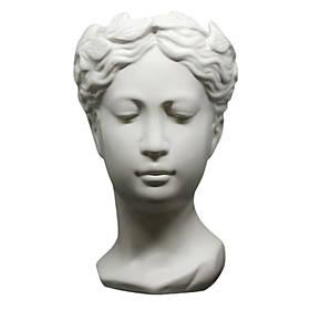 Ваза Бежева Греція 25*15 см бежева декоративна підставка кераміка