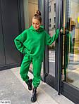 Женский спортивный костюм с худи трехнить на флисе, фото 4