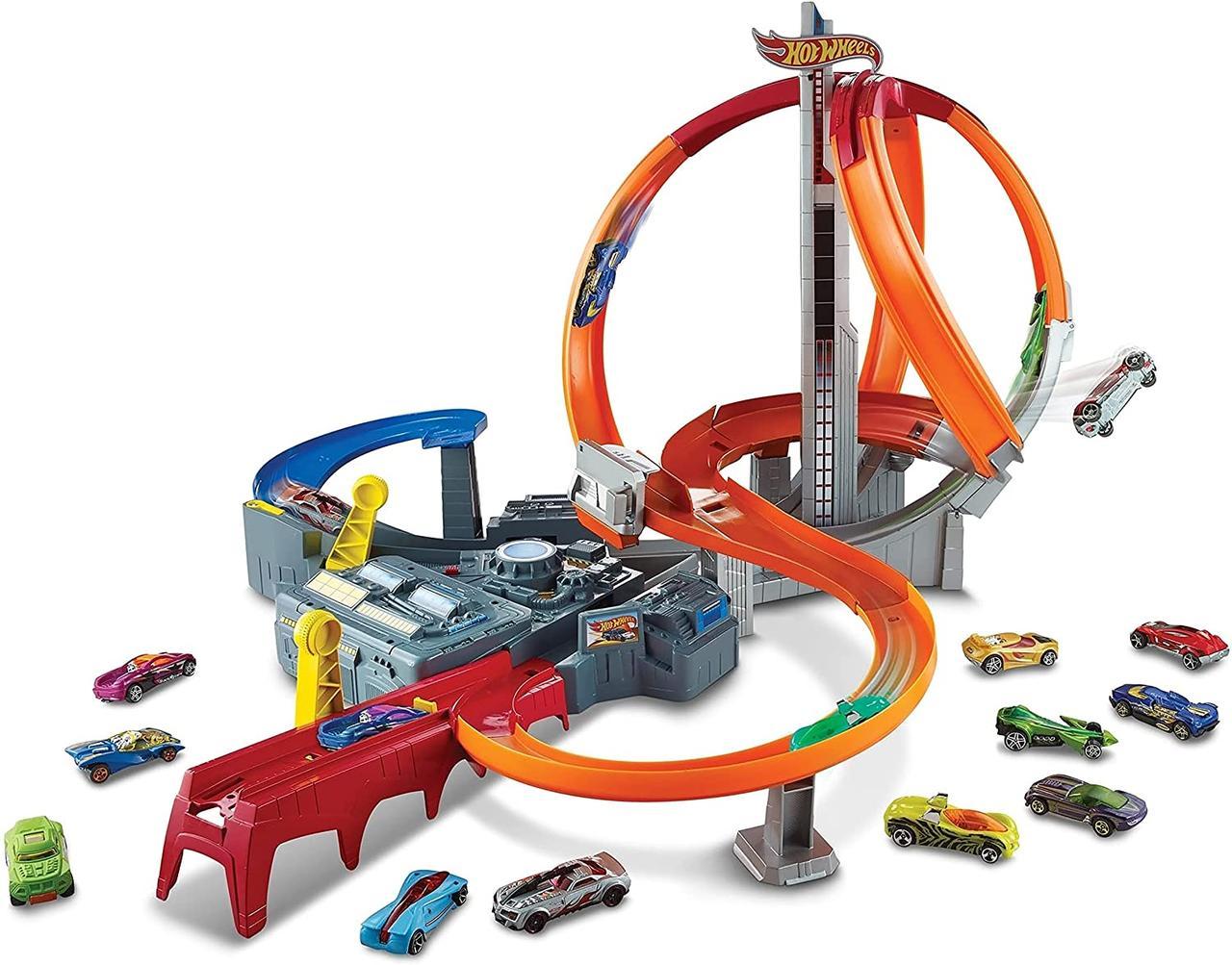 Трек Хот Вілс Запаморочливі віражі Hot Wheels Spin Storm Track Set CDL45