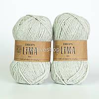 Пряжа Drops Lima Mix (цвет 9020 pearl grey)