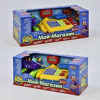"""Касовий апарат 7018 (12/2) """"Мій магазин"""" Play Smart, на батарейках, звукові ефекти, продукти, в коробці"""