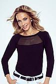 Блуза повседневная черного цвета Janet Eldar, коллекция осень-зима 2021-2022
