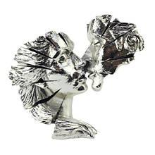 """Фигура """"Сближение"""" (влюбленная пара) 35*9*29 см серебро"""