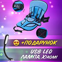 Детское бескаркасное автокресло Multi-function car cushion ребенку от 3 лет Кресло для машины+ USB лампа